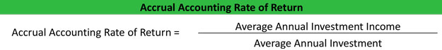Accrual Accounting Rate of Return Formula