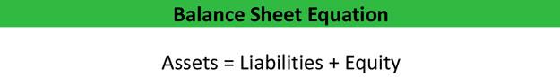Balance Sheet Equation Example