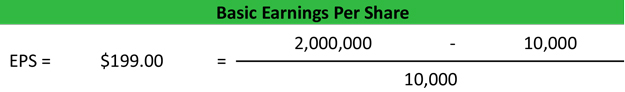 Basic Earnings Per Share Calculation Example