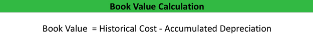 Book Value Calculation Formula Example