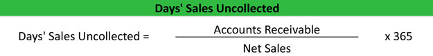 Days' Sales Uncollected Ratio Example