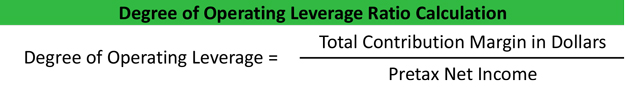 Degree of Operating Leverage Formula Example