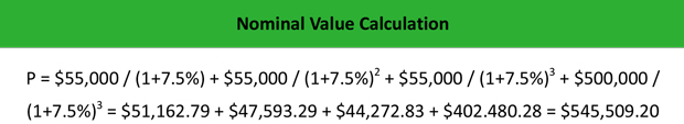 Nominal Value Calculation