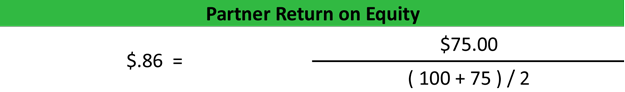 Partner Return on Equity Calculation Example