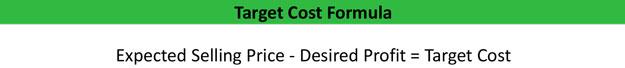 Target Cost Formula
