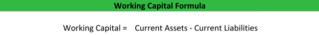 Working Capital Formula Example