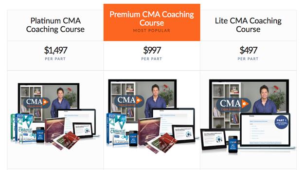 CMA Exam Academy Course Options