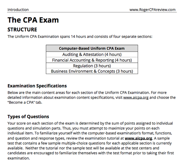 Roger CPA Study TextBook