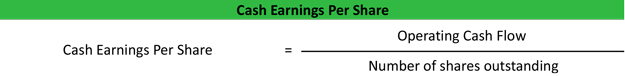 Cash Earnings Per Share