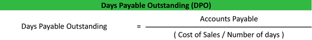 Days Payable Outstanding (DPO) Example