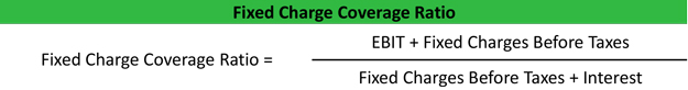 Fixed Charge Coverage Ratio