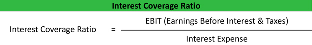 Interest Coverage Ratio Formula