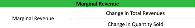 Marginal Revenue Formula