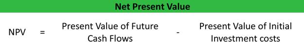 Net Present Value Npv Calculator Formula Example
