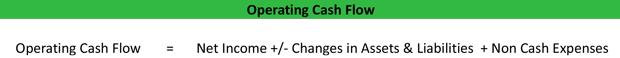 operating cash flow  ocf  formula