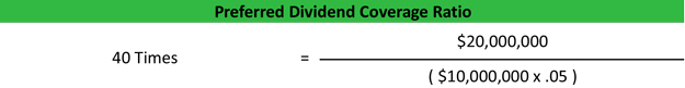 Preferred Dividend Coverage Ratio Example