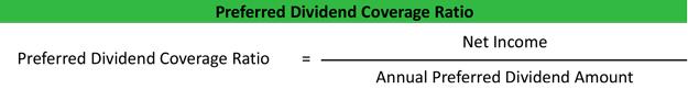 Preferred Dividend Coverage Ratio Formula
