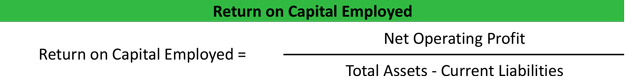 Return on Capital Employed Formula