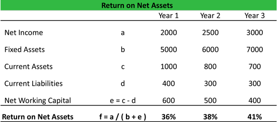 Return on Net Assets Equation