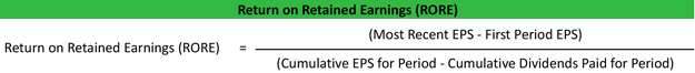 Return on Retained Earnings RORE Ratio Formula