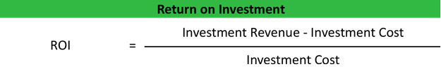 Return on Investment (ROI) Calculator | Formula | Example