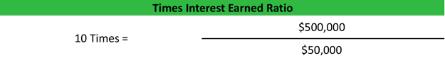 Times Interest Earned Ratio Formula